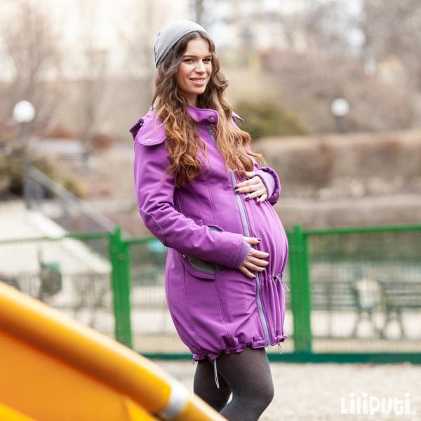 Geacă pentru mămici 4in1 Liliputi® - Violet-Grey