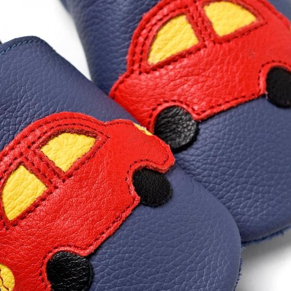 Pantofi cu talpă moale Liliputi® - Blue Cars V8