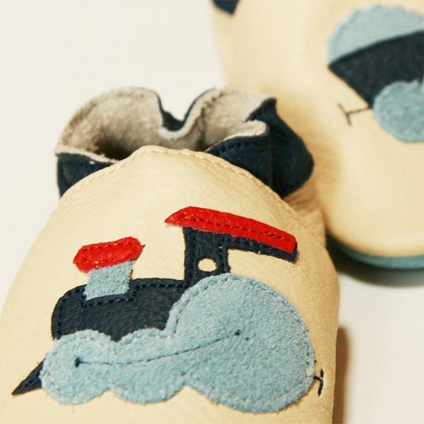 Pantofi cu talpă moale Liliputi® - Express Train White