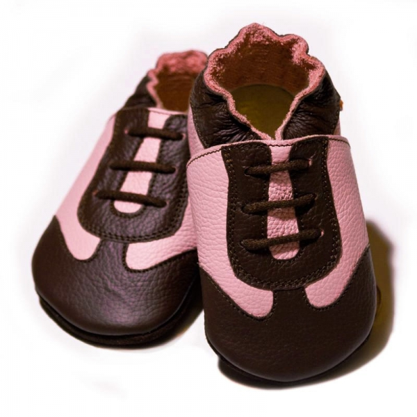 Pantofi cu talpă moale Liliputi® - Pink Sport