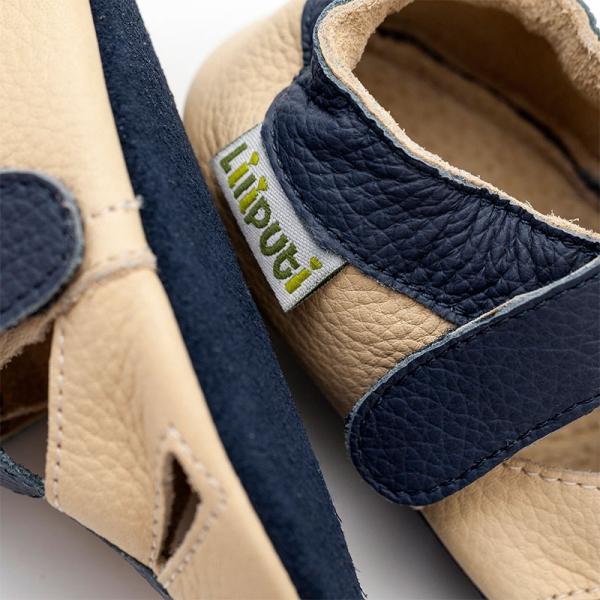 Sandale cu talpă moale Liliputi® - Atacama Beige