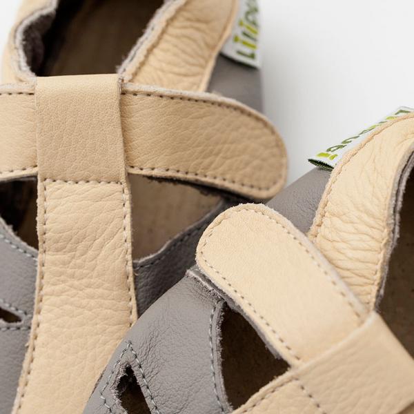 Sandale cu talpă moale Liliputi® - Atacama Grey