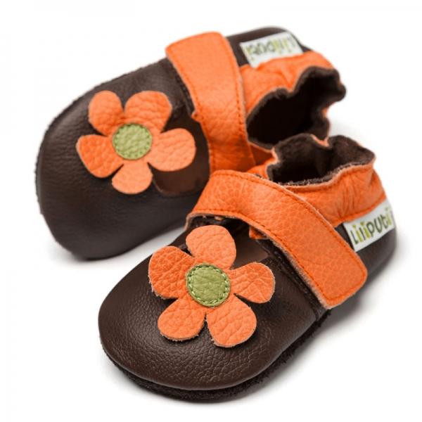 Sandale cu talpă moale Liliputi® - Kalahari Brown