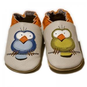 Pantofi cu talpă moale Liliputi® - Silent Birds